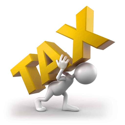 High Taxes that someone is carying